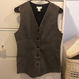 VINTAGE black and white Vest - size 4